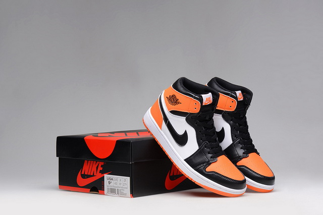 Air Jordan I Shoes Orange/black white